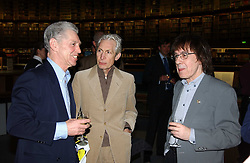 Left to right, GEORGIE FAME, CHARLIE WATTS and BILL WYMAN at a party to celebrate the publication of Treasure Islands - Britain's History Uncovered by Bill Wyman and Richard Havers held at The British Museum, London on 21st March 2005.<br /><br />NON EXCLUSIVE - WORLD RIGHTS