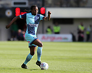 Marcus Bean of Wycombe Wanderers in action. EFL Skybet football league two match, Newport county v Wycombe Wanderers at Rodney Parade in Newport, South Wales on Saturday 9th September 2017.<br /> pic by Andrew Orchard, Andrew Orchard sports photography.