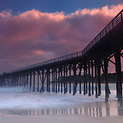 Glowing Cloud Sunset - San Simeon Pier, CA