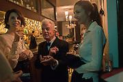 HENRIETTA CHANNON, NICKY HASLAM; LADY CHOLMONDELEY , Nicky Haslam hosts dinner at  Gigi's for Leslie Caron. 22 Woodstock St. London. W1C 2AR. 25 March 2015
