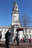 St.Davids day parade in Cardiff, capital city of Wales, UK on Monday 1st March 2010.