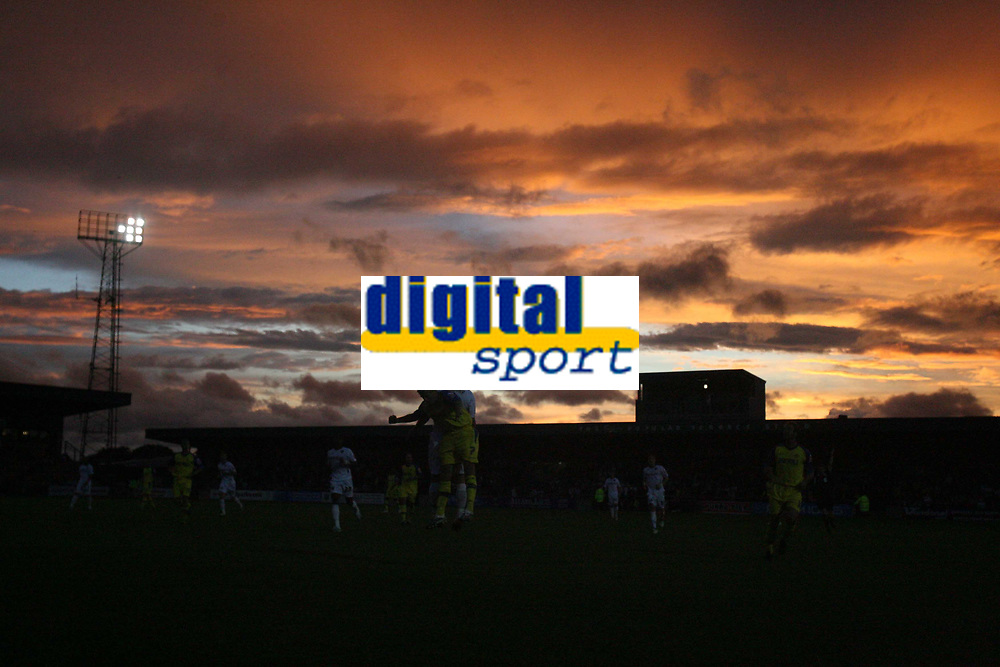 Photo: Rich Eaton.<br /> <br /> Torquay United v Norwich City. Carling Cup. 23/08/2006. Norwich City and Torquay United play out their game before a spectular evening sky