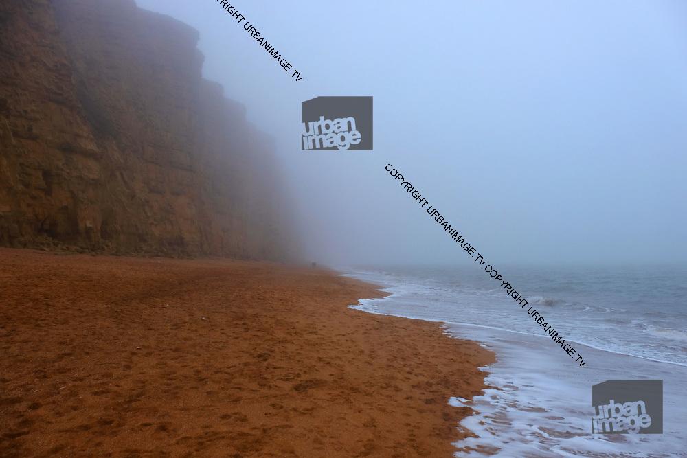 Jurassic Coast Dorset. sea mist at West Bay Beach