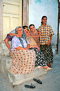 Meeting a friendly Turkish family in Amasya, Central Turkey. Published in Sierra Magazine, Sierra Club Outings January/February 2001.