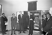 1st October 1963<br /> <br /> Official Opening of I.C.T. House.<br /> Dr James Ryan TD, Minister for Finance, officially opened I.C.T. House , Adelaide Road, Dublin, for international Computers and Tabulators Ltd. The company had staff working in several sites around the city and the new premises will bring all of them together under the one roof. Image shows the assembled management and guests at the official opening of ICT House.
