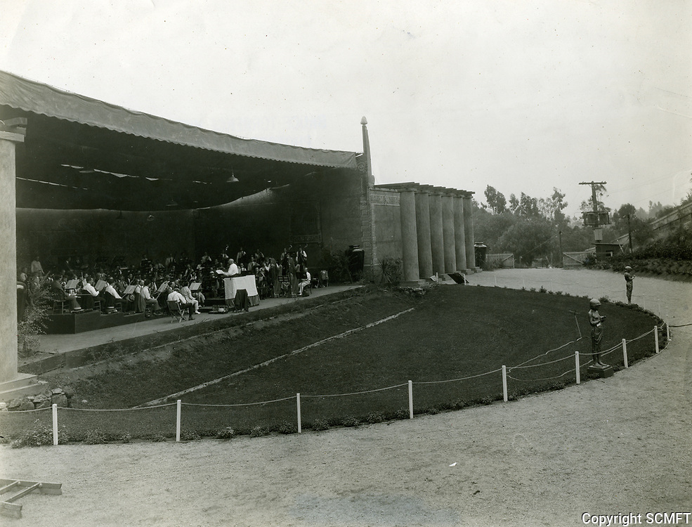 1924 Orchestra practicing at the Hollywood Bowl