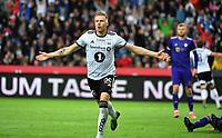 Football UEFA Champions League Q3<br /> Rosenborg - Maribor<br /> Lerkendal Stadium, Trondheim, Norway<br /> 13 August 2019<br /> <br /> Alexander Søderlund har utlignet til 1-1 for Rosenborg<br /> <br /> <br /> <br /> Foto : Arve Johnsen, Digitalsport