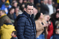Sunderland Manager Jack Ross during the EFL Sky Bet League 1 match between Oxford United and Sunderland at the Kassam Stadium, Oxford, England on 9 February 2019.