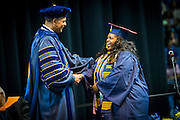 CSF-DC's Bryanna Johnson walks during her NC A&T graduation on Saturday, May 14, 2016 (Tigermoth Creative/Chris English)