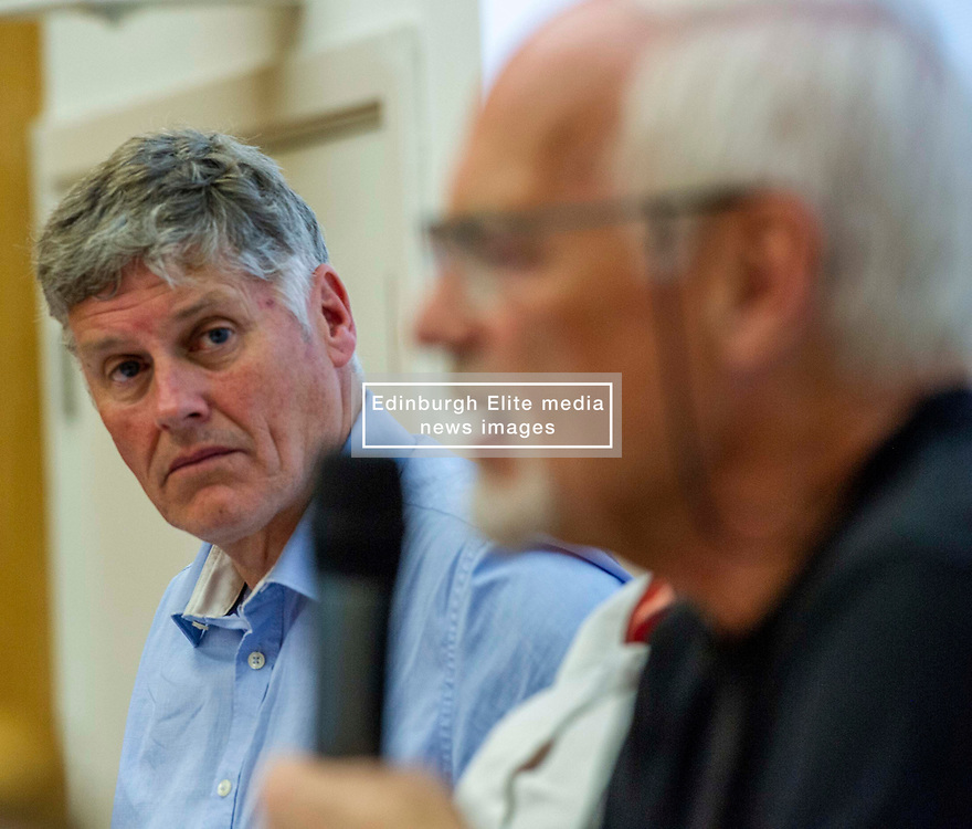 Pictured: Colin Fox<br /><br />Delegates welcomed panalists Eva, Schornveld, Extinction Rebellion; Colin Fox and Róisín McLaran, Scottish Socialist Party and Asbjørn Wahl a climate activist from Norway to assess how tackling climate change can be done in ways which benefit working-class people and their communities.<br /><br />Eva Schonveld Extintion Rebellion<br /><br />Colin Fox is the national co-spokesperson of the Scottish Socialist Party and a former Member of the Scottish Parliament for the Lothians.<br /><br />Róisín McLaren is the national co-spokesperson of the Scottish Socialist Party. At 24, she is the youngest leader of any UK political party in history.<br /><br />Asbjørn Wahl is a Norwegian researcher and author. He is currently the director of the Campaign for the Welfare State, an adviser for the Norwegian Union of Municipal and General Employees, and the Vice President of the Road Transport Workers' Section of the International Transport Workers' Federation.<br /><br /><br />Ger Harley   EEm 29 June 2019