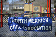 Merrick, New York, USA. April 8, 2017.  Eggstravaganza annual community celebration, hosted by North Merrick Civic Association and American Legion Auxiliary Merrick  Post 1282, with Easter Egg Hunts, balloons, and other outdoor family fun.