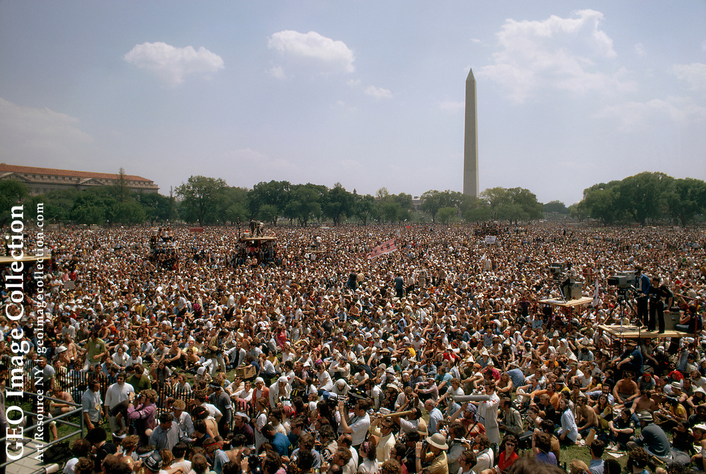 March on Washington marchers filling the Mall.