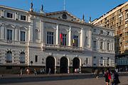 Exterior view, Municipalidad de Santiago, Plaza de Armas, Santiago, Chile.