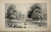The Ornamental Water St. James' Park London From the book Illustrated London, or a series of views in the British metropolis and its vicinity, engraved by Albert Henry Payne, from original drawings. The historical, topographical and miscellanious notices by Bicknell, W. I; Payne, A. H. (Albert Henry), 1812-1902 Published in London in 1846 by E.T. Brain & Co