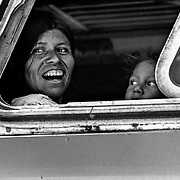 Guatemalan refugees returning home from Mexico. Guatemala