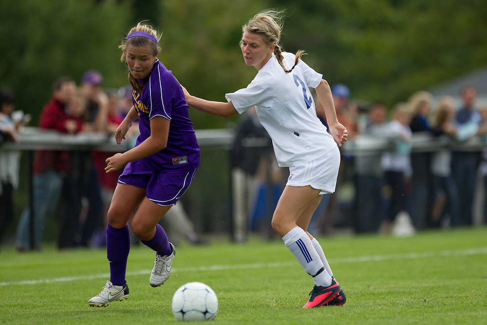 Janie O'Hallloran, of Colby College, in an NCAA Division III college soccer game against Williams College at Colby College, Saturday Sept. 7, 2012 in Waterville, ME. (Dustin Satloff/Colby College Athletics)