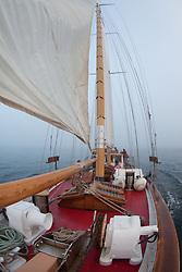 Sailing Boundary Pass, SV Maple Leaf, Gulf Islands, British Columbia, Canada