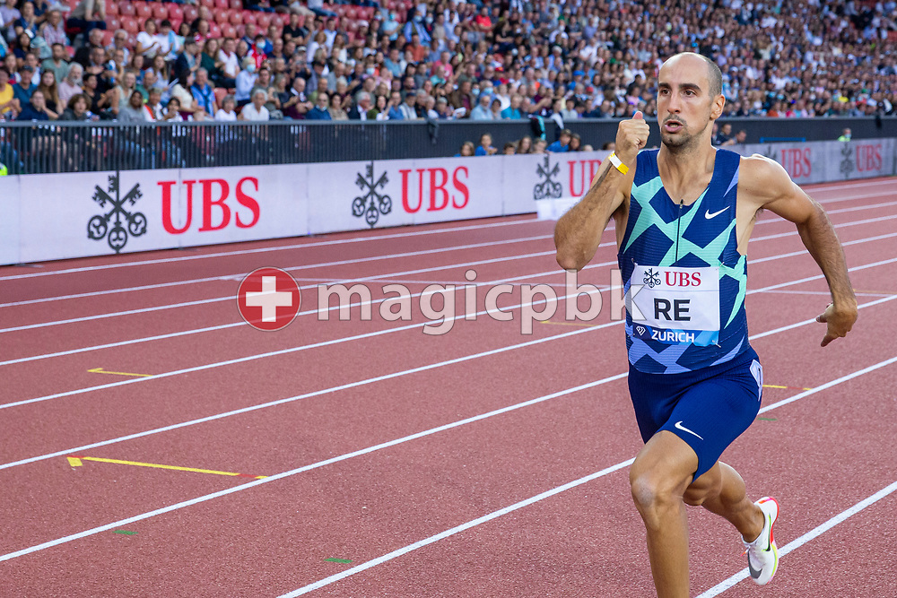 Davide Re of Italy competes in the men's 400m during the Iaaf Diamond League meeting (Weltklasse Zuerich) at the Letzigrund Stadium in Zurich, Switzerland, Thursday, Sept. 9, 2021. (Photo by Patrick B. Kraemer / MAGICPBK)