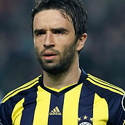 Fenerbahce's Gokhan GONUL during their Turkish superleague soccer derby match Fenerbahce between Trabzonspor at the Sukru Saracaoglu stadium in Istanbul Turkey on Sunday 30 January 2011. Photo by TURKPIX