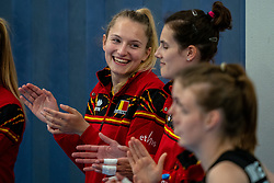 Elise van Sas of Belgium during the Women's friendly match between Netherlands and Belgium at Sporthal De Basis on may 19, 2021 in Sliedrecht, Netherlands (Photo by RHF Agency/Ronald Hoogendoorn)