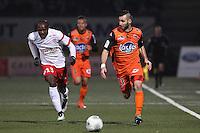 Julien CETOUT / Antony ROBIC  - 06.03.2015 - Nancy / Laval - 27eme journee de Ligue 2 <br />Photo : Fred Marvaux / Icon Sport