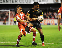 Football - 2021 / 2022 EFL Sky Bet League Two - Crawley Town vs Salford City - The People's Pension Stadium - Tuesday 17th August 2021<br /> <br /> Jake Hessenthaler of Crawley and Ibou Touray of Salford<br /> <br /> Credit : COLORSPORT/Andrew Cowie