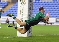 Rugby Union - 2017 Greene King IPA [RFU] Championship Final - Second Leg: London Irish [29] vs. Yorkshire Carnegie [18]<br /> <br /> Alex Lewington of London Irish dives over for his second half try at Madejeski Stadium.<br /> <br /> COLORSPORT/ANDREW COWIE