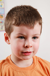 Portrait of white boy at nursery