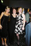 Michelle Collins, Ruby Wax and Tara Newley. Gilda's Club party. Isola. London. 5/2/01 © Copyright Photograph by Dafydd Jones 66 Stockwell Park Rd. London SW9 0DA Tel 020 7733 0108 www.dafjones.com