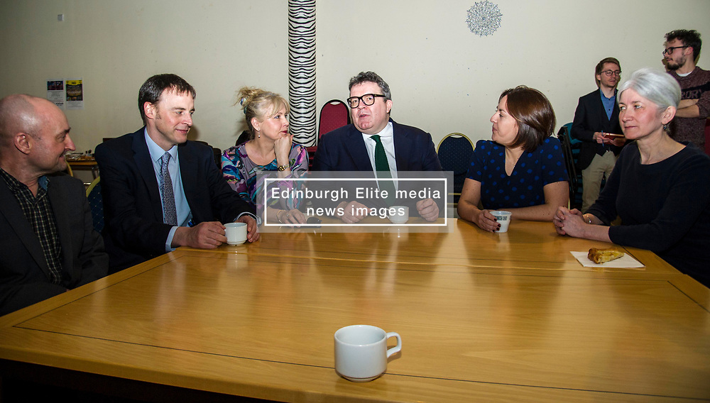Pictured: Kezia Dugdale and Tom Watson get to know the local candidates<br /> Scottish Labour leader Kezia Dugdale, MSP,  and Tom Watson, MP deputy leader of the Labour Party, visited Edinburgh's Serenity cafe today to meet and encourage Labour candidates ffor the upcoming local elections;<br /> Ger Harley   EEm 27 March 2017