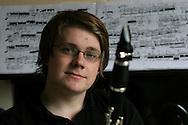 Mark Simpson, winner of the BBC Young Musician of the Year 2006 award, pictured at his home in Liverpool..