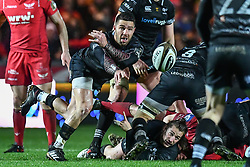 Ospreys' Rhys Webb in action during todays match - Mandatory by-line: Craig Thomas/Replay images - 26/12/2017 - RUGBY - Parc y Scarlets - Llanelli, Wales - Scarlets v Ospreys - Guinness Pro 14