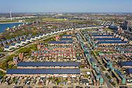 Nederland, Heerhugowaard, 20190405<br /> Stad van de Zon, duurzame nieuwbouwwijk. Er wordt gestreefd naar emissieneutraal wonen. De huizen zijn allemaal voorzien van zonnepanelen op de daken en diverse andere voorzieningen.<br /> Foto: (c)Michiel Wijnbergh