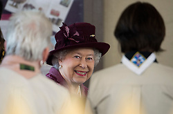© London News Pictures. 30/04/2012. London, UK. HRH The Queen Elizabeth II talking to Scouts while on a walk from Windsor Castle to the Guildhall, Windsor, Berkshire on April 30, 2012, where she attended a Diamond Jubilee reception. Photo credit : Ben Cawthra /LNP