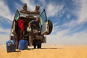 Mahmood during a lunch stop, White Desert, Egypt
