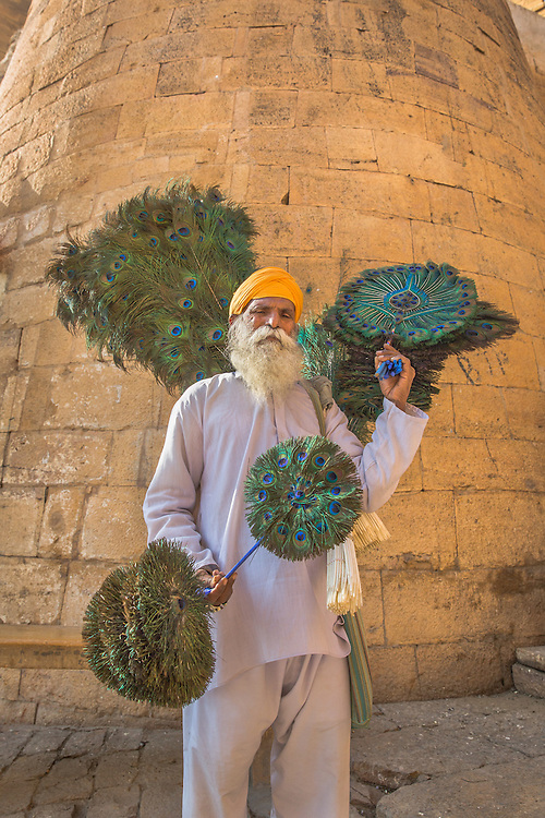 A local craftsman displays his artwork in Jaisalmer Fort, the ancient jewel of the desert.