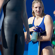 Rebecca Adlington, Great Britain, poolside at the World Swimming Championships in Rome on Sunday, July 7, 2009. Photo Tim Clayton.