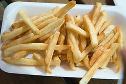Carton of takeaway chips,