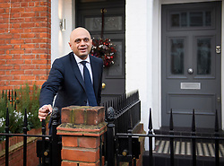 © Licensed to London News Pictures. 13/12/2018. London, UK. Home Secretary SAJID JAVID is seen leaving his London home the morning after British Prime Minster Theresa May survived a vote of no confidence by her party. Javid has been tipped to be the next party leader after the PM announced that she would step down before the next general election. Photo credit: Ben Cawthra/LNP