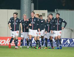 Falkirk's Bob McHugh cele scoring their second goal. Falkirk 3 v 1 St Mirren, Scottish Championship game played 3/12/2016 at The Falkirk Stadium .