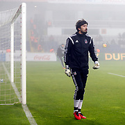Besiktas's goalkeeper Tolga Zengin during their Turkish Super League soccer match Besiktas between Mersin idmanyurdu at the Basaksehir Fatih Terim arena in Istanbul Turkey on Wednesday, 17 February 2016. Photo by Kurtulus YILMAZ/TURKPIX