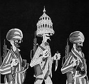 Soviet Russian cartoon about US support for the Mujahidin in the Afghanistan War of the 1978-87 Period