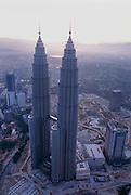 Kuala Lumpur and the Petronas Towers, Malaysia.