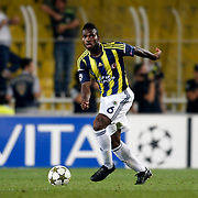 Fenerbahce's Joseph Michael Yobo during their UEFA Champions League Play-Offs, 2nd leg soccer match Fenerbahce between Spartak Moscow at Sukru Saracaoglu stadium in Istanbul Turkey on Wednesday 29 August 2012. Photo by TURKPIX