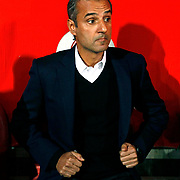 Fenerbahce's coach Ismail Kartal during their Turkish superleague soccer match Besiktas between Fenerbahce at Ataturk Olimpiyat Stadium in Istanbul Turkey on Sunday 02 November 2014. Photo by Aykut AKICI/TURKPIX