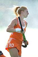 BOOM - Margot van Geffen voor  de eerste poule wedstrijd van Oranje tijdens het Europees Kampioenschap hockey   tussen de vrouwen Nederland en Ierland (6-0). ANP KOEN SUYK