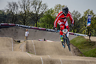#191 (ANDRESEN Klaus Bogh) DEN at the 2016 UCI BMX Supercross World Cup in Papendal, The Netherlands.