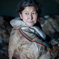 Sept 2009 Yamal Peninsula, Siberia, Russia - global warming impacts story on the Nenet people , reindeer herders in the Yamal Peninsula - Mrs Ysengi
