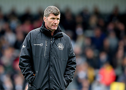 Exeter Chiefs Director of Rugby Rob Baxter watches warm up before kick off during the Aviva Premiership match at Sandy Park, Exeter.