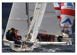 The final days racing at the Bell Lawrie Yachting Series in Tarbert Loch Fyne. The overall winners were decided in most classes on the last days racing...GBR1769 Buddy White in the 1720 Sportsboat class.